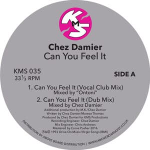 Chez Damier - Can You Feel It - KMS035CLEAR - KMS