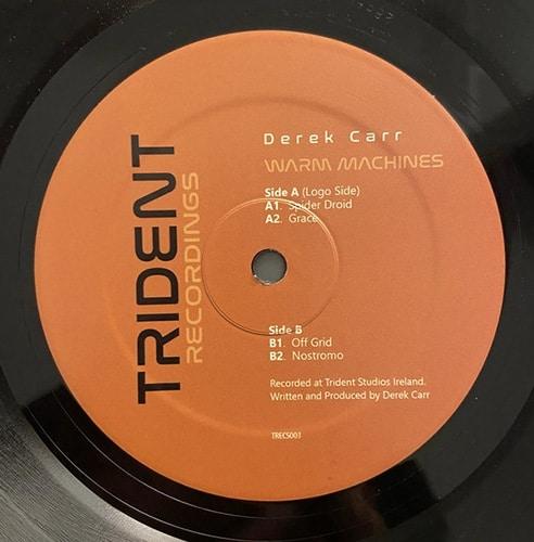 Derek Carr - Warm Machines EP - TRECS003 - Trident Recordings