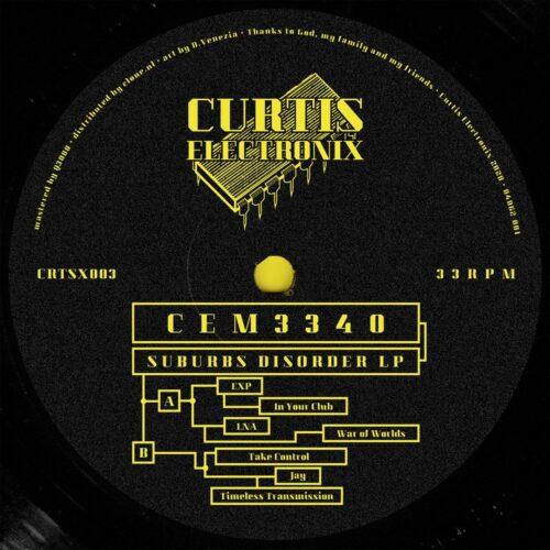 CEM3340 - Suburbs Disorder LP - CRTSX003 - Curtis Electronix