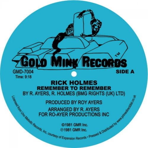 Rick Holmes - Remember To Remember - GMD7004 - GOLD MINK