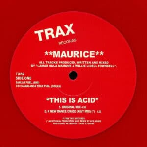 Maurice - This Is Acid - TXR2 - TRAX