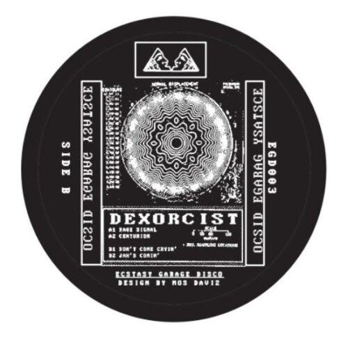 Dexorcist - Rage Signal EP - EGD003 - Ecstasy Garage Disco