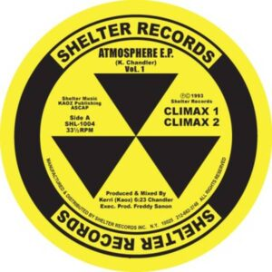 Kerri Chandler - Atmosphere Ep (yellow Vinyl Repress) - SHL1004YELLOW - SHELTER