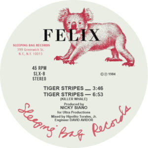 Felix/Arthur Russell/Nicky Siano - Tiger Stripes - SLX8 - SLEEPING BAG