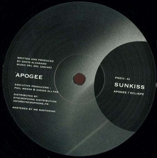 Sunkiss/David Alvarado - Apogee/ Eclipse - PND11 - P&D