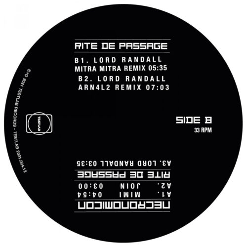 Necronomicon - The Sound of Fetisj 1982 - TESTLAB2020-004-12 - TESTLAB RECORDS