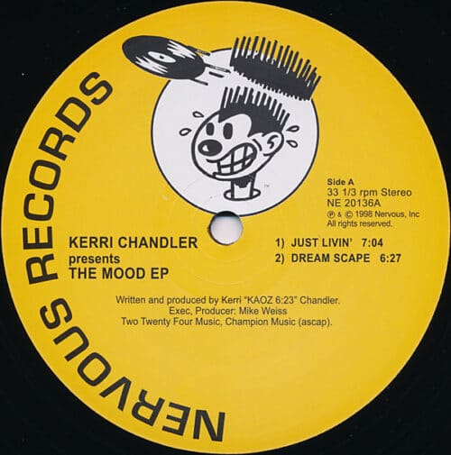 Kerri Chandler - Mood EP (Yellow) - NE20136YELLOW - NERVOUS RECORDS