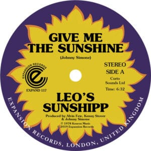 Leo's Sunshipp - Give Me The Sunshine/I'm Back For More - EXPAND117 - EXPANSION