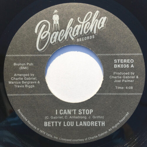 Betty Lou Landreth - I Can't Stop - BK036 - BACKATHA RECORDS