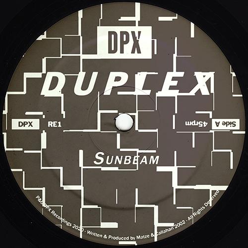Duplex - Sunbeam - DPX-RE1 - DPX RECORDINGS
