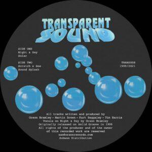 Transparent Sound - Night & Day - TRANS008 - TRANSPARENT SOUND RECORDINGS