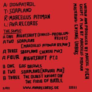 Dogpatrol - Soapland (Marcellus Pittman remix) - AVA019 - AVA RECORDS
