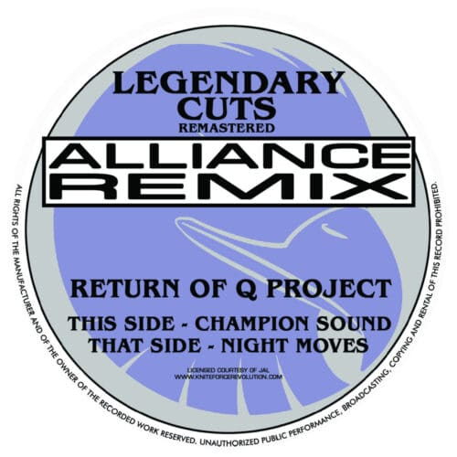 Q Project - Champion Sound / Night Moves - KLEG06 - KNITEFORCE