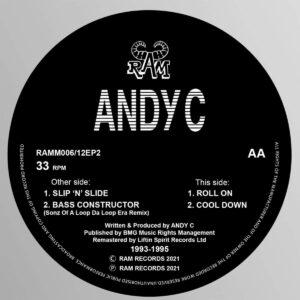 Andy C - Slip' N 'Slide / Roll On - RAMM006 - LIFTIN SPIRIT