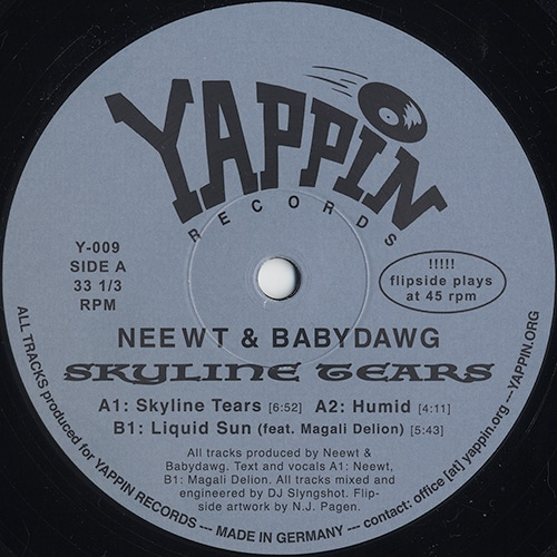 Neewt/Babydawg - Skyline Tears - Y-009 - YAPPIN